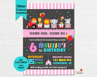 Circus Birthday Invitation, Carnival Invitation, Circus Theme Party, Carnival Birthday, Carnival Themed Party, Party Printables
