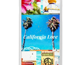 NEW iPhone 7/7+ Case,  California Love, Best Seller, CA, Flowers, Beach, Surf, Surf Art, Tropical, Avail. with Black or White case color