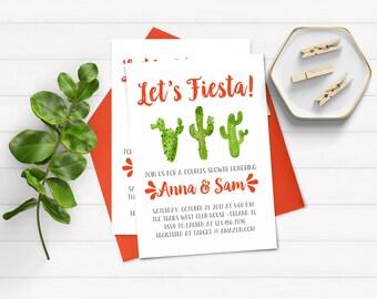 Fiesta Couples Shower Invitation, Fiesta Shower Invitation, Cactus Invitations, Printable Couples Shower Invitation