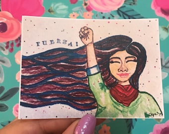 Fuerza - print, notecard