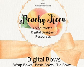 Peachy Keen | 30 Color Palette Designer Resources | Digital Bow Graphics