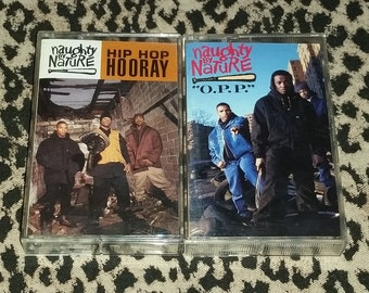 Naughty By Nature Cassingles Lot of 2 [Cassette Tape] Hip Hop Cassette Hip Hop Hooray Hood Comes First O.P.P. Wickedest Man Alive 1990's Rap