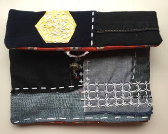 Makeup pouch, phone pouch, boro style