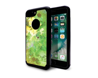 iphone 7 plus case heavy duty case back cover for apple iphone 7 iphone 7 plus abstract watercolor green flower