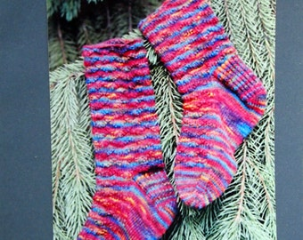 Ripple Socks By Mountain Colors Hand-Painted Yarns Knitting Pattern Packet Undated