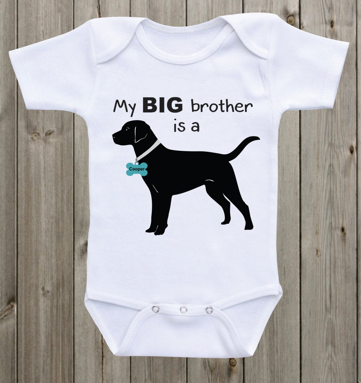 My Big brother is a Black Lab Black Lab shirt baby onesie dog