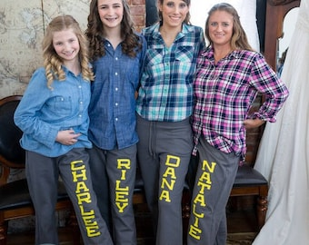 Personalized Wedding Yoga Style Sweatpants - Bridesmaid Gift - Will You Be My Bridesmaid - sister9designs
