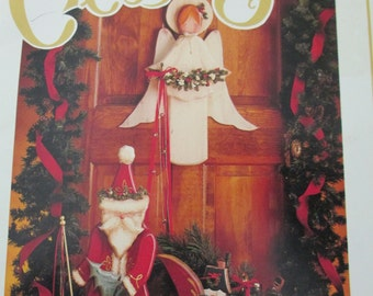 """Vintage Decorative used painting book """"The Country Club  Book Christmas Special"""" tole painting how to 42 pages"""