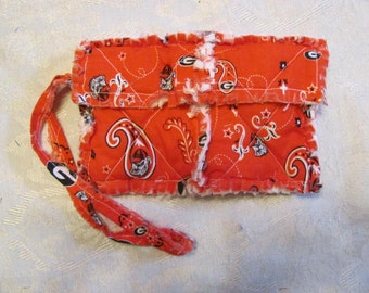 Georgia Bulldogs inspired Clutch bag Cell Phone Case Georgia Bulldogs inspired Wristlet Gift for Girls Gift For Her