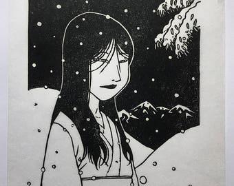 Yuki Onna / / engraving