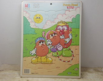 Potato Head Kids, Milton Bradly Flat tray Puzzle, 1988, vintage puzzle, vintage toy