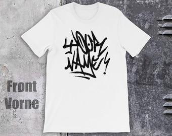 Graffiti T-shirt met uw naam