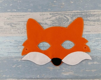 Fox Mask - Felt Fox Mask - Mr Fox - Woodland Mask - Animal Mask - Animal Felt Mask - Gift for Her - Gift for Him - Birthday Party Favor