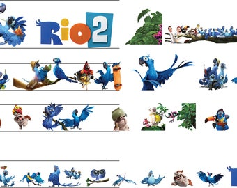 Rio 2 movie clipart  -  Digital 300 DPI PNG Images, Photos, Scrapbook, Cliparts - Instant Download