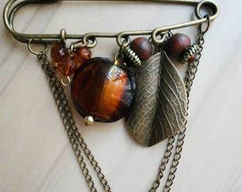 Kilt pin brooch Autumn