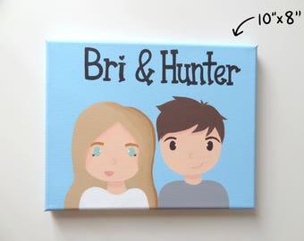 "Custom Couple Canvas Painting 10""x 8"""
