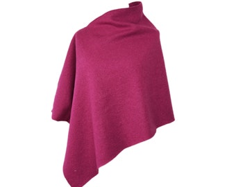 "Fine wool poncho ""Raspberry"" by marengu"