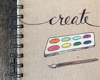 Create | Spiral Notebook | Reclaimed Paper | Journal