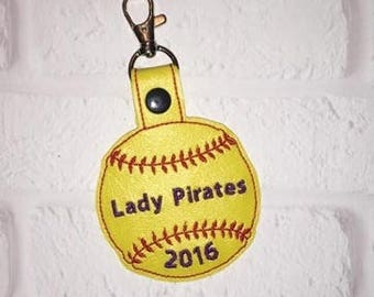 Softball Key Chains -Sports Bag Tag - Team Gift - Tennis Bag Tag - Basketball Bag Tag - Soccer Bag Tag-Sports Team Gift - From  The Stands
