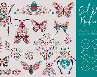 Bugs, Beetles & Butterfly SVG