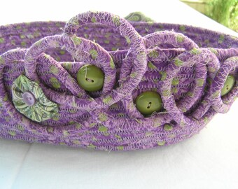 Woven Bowl Purple