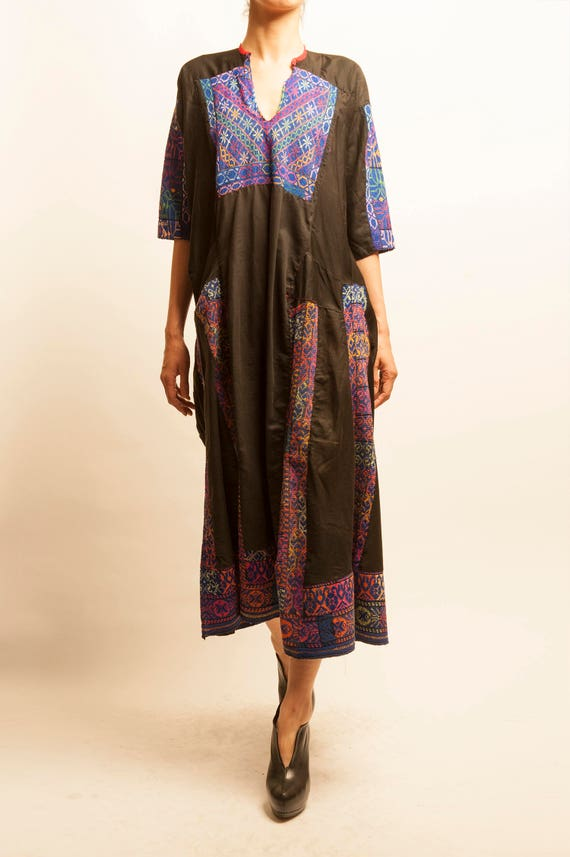 1900's antique hand made embroidered Syrian traditional dress