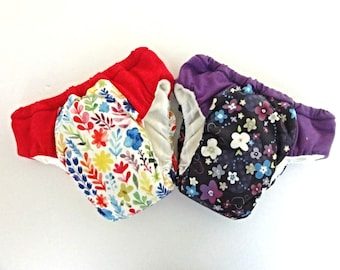 Potty training pants, girls floral duo pack, Eco friendly pullups, outdoor training pants,  toddler underwear, daytime waterproof pants