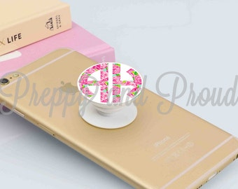 Preppy Prints Monogram Decal Stickers for Popsocket