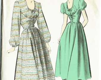 "1940s Vintage Sewing Pattern Ladies' Dress Advance 5073 30"" Bust Petite - Free Pattern Grading E-book Included"