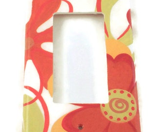 Rocker Switchplate   Wall Decor Single Light Switch Cover in Cayenne (254R)