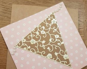 Handmade Bunting Greetings Card