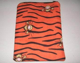 Pooh ipad case etsy winnie the pooh tigger handmade zipper fabric 7 mini ipad galaxy kindle fire nexus case voltagebd Gallery