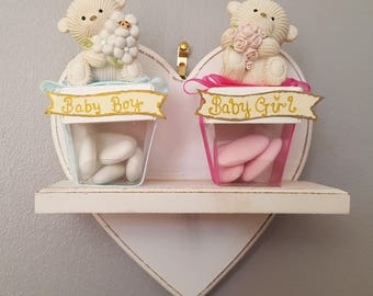 Baby boy/girl teddy favours.