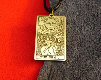 Pendant - Tarot Card The Sun Tarot 19th card