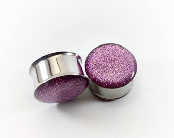 Light Pink Metallic Glitter Plugs