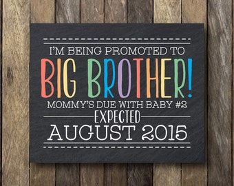 I'm Being Promoted to Big Brother - Printable Pregnancy Reveal - Big Brother Pregnancy Announcement - Big Brother Announcement Sign
