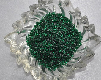 Dark Green Silver lined Matte Finish seed beads