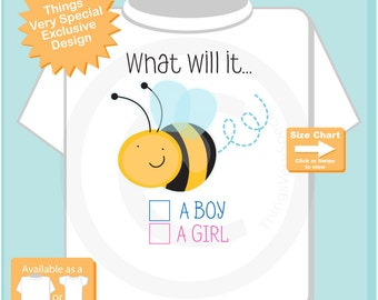 Gender Reveal Shirt - Gender Reveal Party t shirt - Baby Gender Reveal Shirt - What will it Bee Gender Reveal Shirt Outfit 06272016c