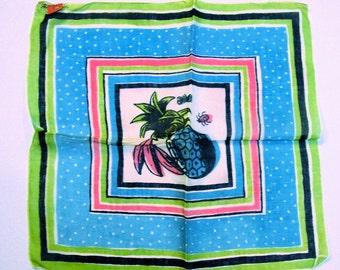 N.O.S. Tammis Keefe Handkerchief: Fruit, Butterfly & Ladybug
