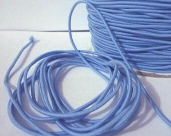 10 yd /9 meters Capri Blue Drawcord Round Drawstring Elastic Cord Rope 1.5mm width ET16