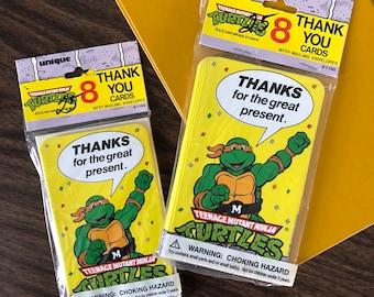 Vintage Teenage mutant ninja turtles THANK YOU cards