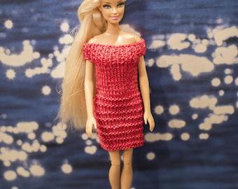Red Barbie doll dress.