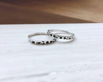 Feminist Sterling Silver Ring