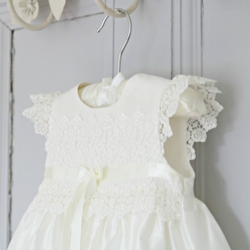 Taufkleid Taufe-Kleid Kleid Baby Mädchen Taufe Kleid