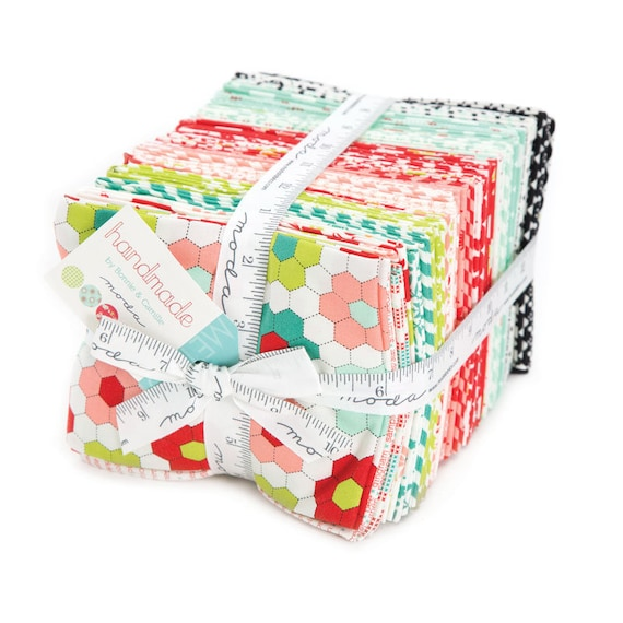 Fat Quarter Bundle of 40 Fabrics by Bonnie and Camille's Handmade Quilt Fabric Collection From Moda 55140 AB