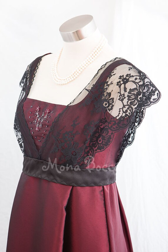 Edwardian roten Kleid Titanic Rose Kleid plus Größe Kleid