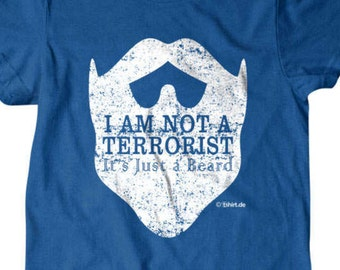 Beard T-shirt, I'm not a terrorist its just a beard t shirt, Funny beard guy T shirt, T Shirts for Men | Hipster tees