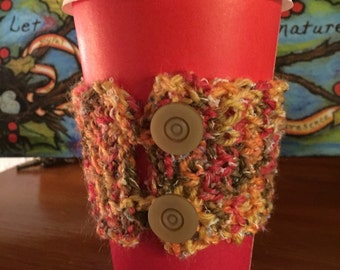Knitted Coffee Cup Sleeve