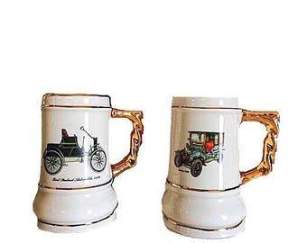 Car Stein, Office Decor, Miniature Stein, Stein, Stein Car, Small Car Stein, Gold Stein, Car Mug, Car Vintage, Desk Mug, Office Mug, Office