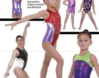 Jalie 3241 - X-Back Gymnastics Leotards and Biketard / 22 Sizes / Child & Adult